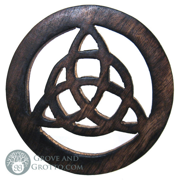 Wooden Triquetra Altar Tile - Grove and Grotto