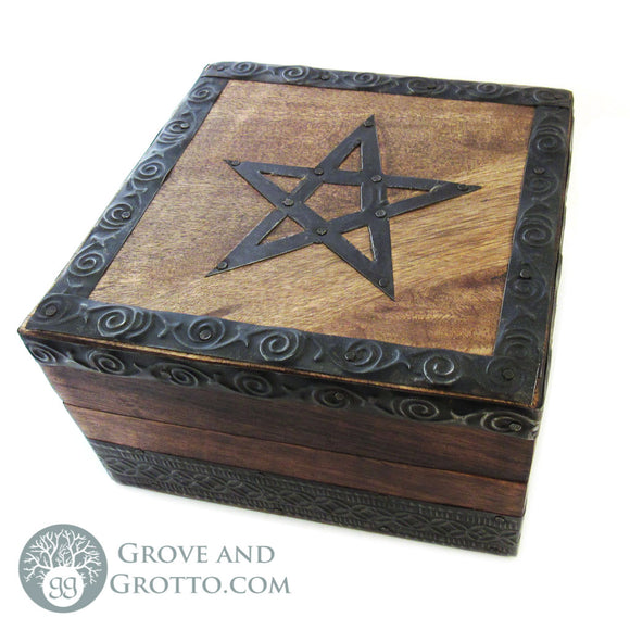 Pentagram Box with Metal Trim