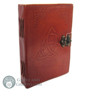 Triquetra Leather Journal with Latch