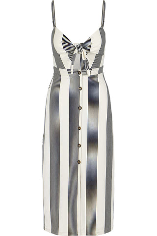 Front Tie Button Up Dress