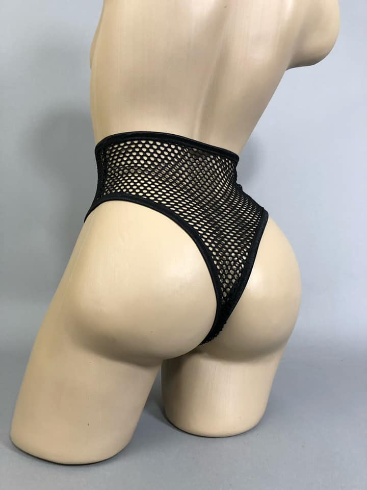 ATTITUDE PROBLEM - High Leg Fishnet Briefs