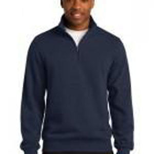 1/4 Zip Cadet Collar Sweatshirt