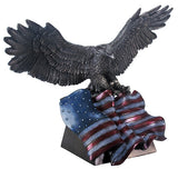 Bronze Eagle with Flag
