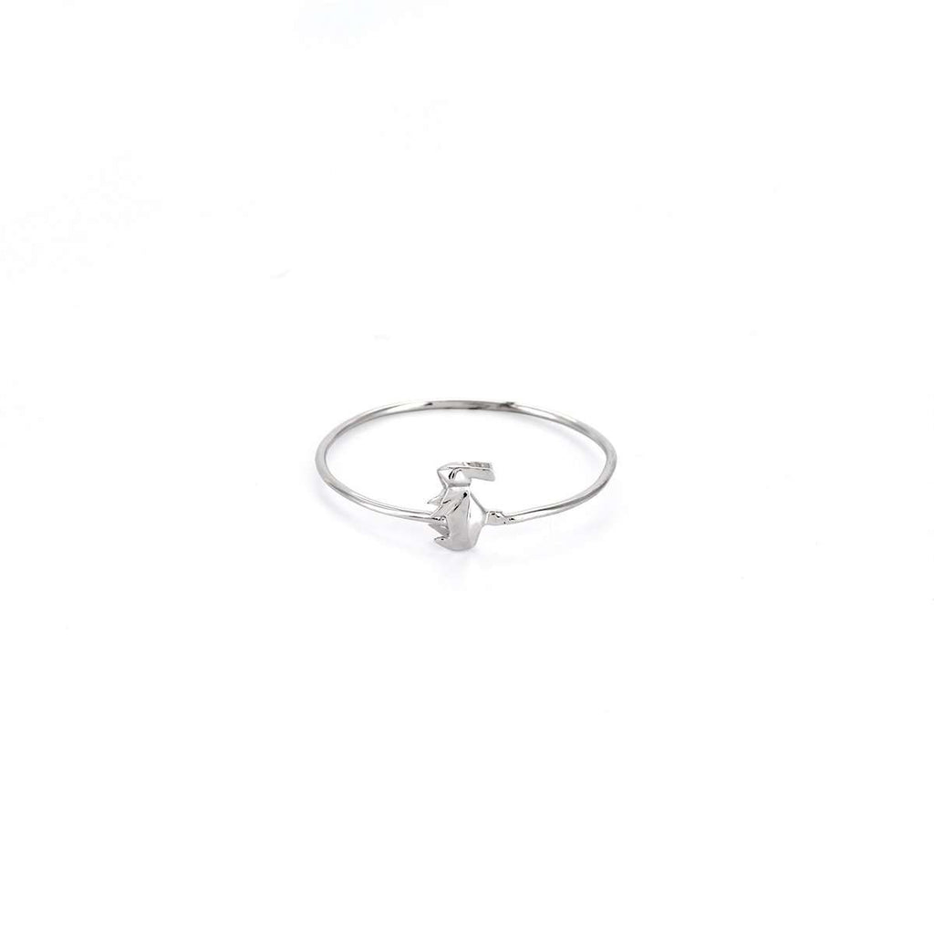 The Rabbit Silver Stacking Ring
