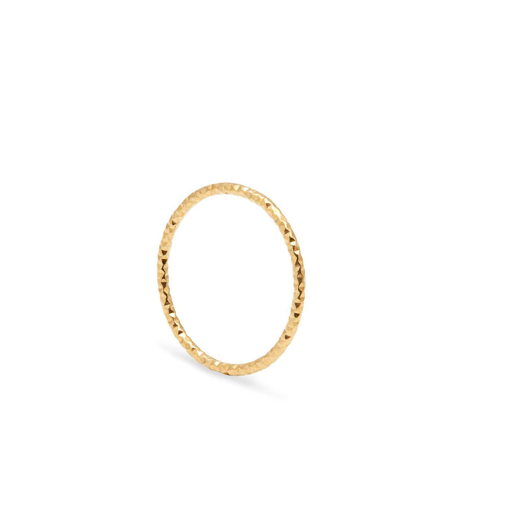 Skinny Faceted Diamond Stacking Ring
