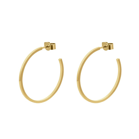 Gold Medium Hoop Earrings