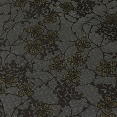 LoomSource Chai Twilight Botanical Gray Upholstery Fabric
