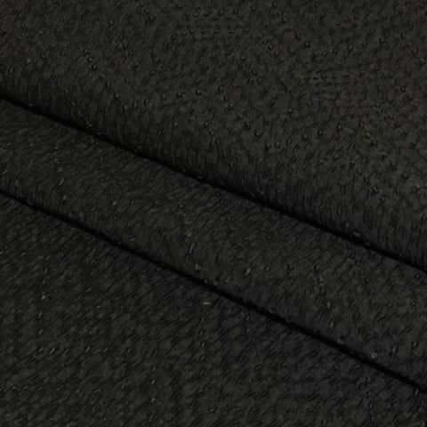 Swavelle Mill Creek Drapery Fabric Textured Victor Charcoal Toto Fabrics
