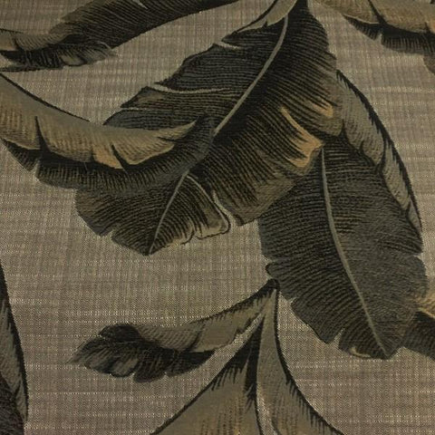 Swavelle Mill Creek Enseta Stone Botanical Brown Upholstery Fabric