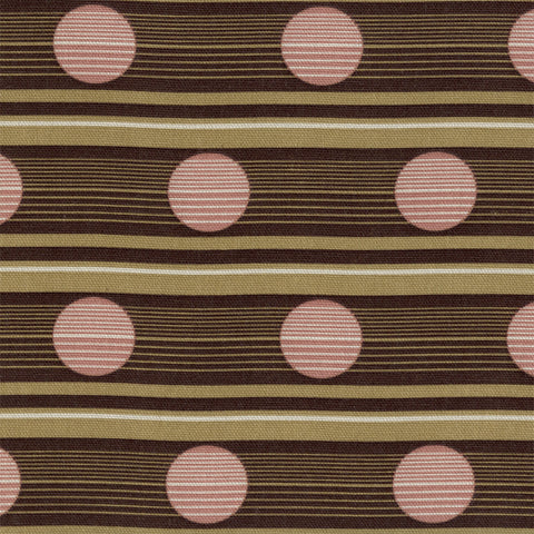Upholstery Fabric Barcode Stripe Circle Print Route Beetroot Toto Fabrics