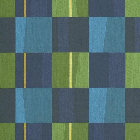 Maharam Wedge Kinder Geometric Blue Upholstery Fabric 466272–003