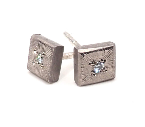 Textured Diamond Studs