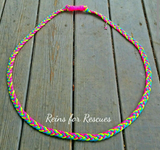 Neon Neck Rope with Turtle Charm