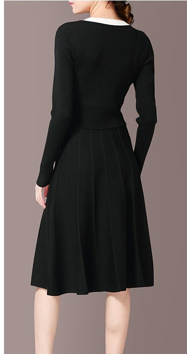 EXTRA PETITE: BLACK DESIGNER DRESS