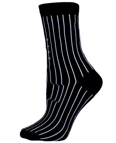 GIRLS PINSTRIPE SOCK SHORT