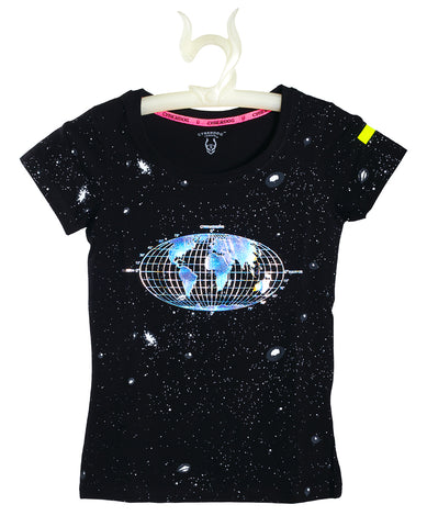 GIRLS S/S HOLO EARTH
