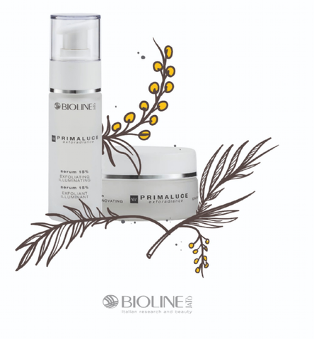 Bioline Primaluce Cream Nourishing Renovating + Primaluce Serum 15% Exfoliating Illuminating