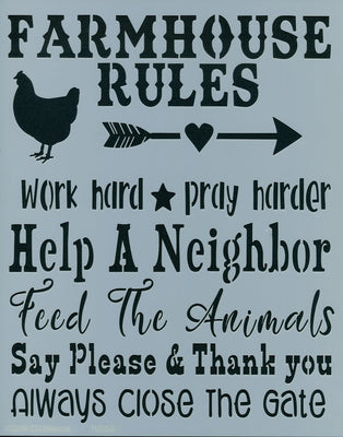 Farmhouse Rules Stencil