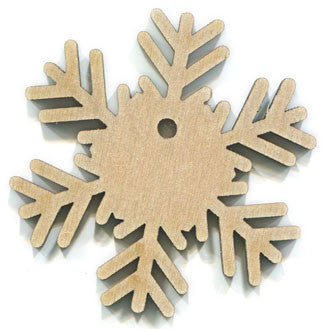 "2"" Wood Snowflake with Hole"