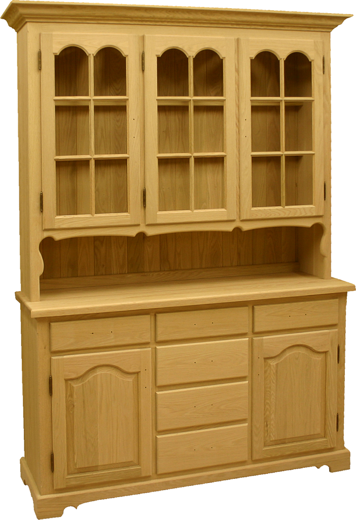 Double Hump Door Buffet with Hutch