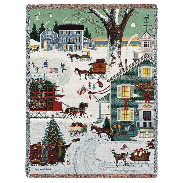 Cape Cod Christmas Woven Throw UK
