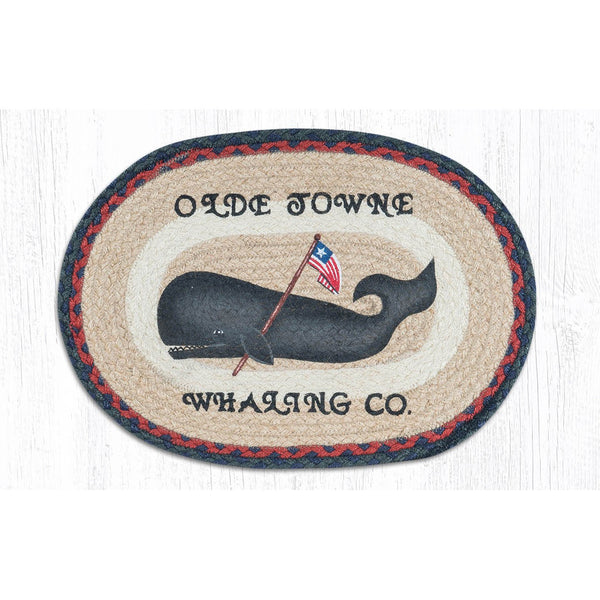 Olde Towne Whaling Co Folk Art Whale Braided Tablemat
