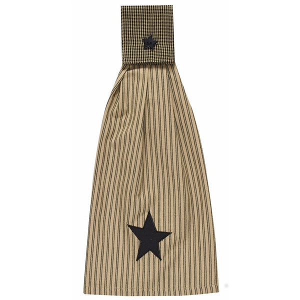 Folk Star Towel with Hoop for Range Cookers