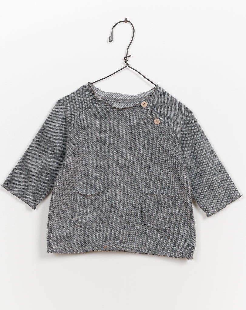 Fleece Pocket Sweater - Stone