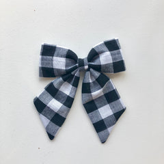 Plaid Party Bow