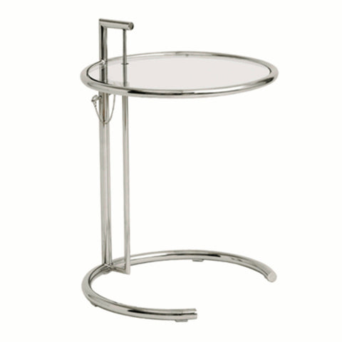 Round End Side Table - Clear