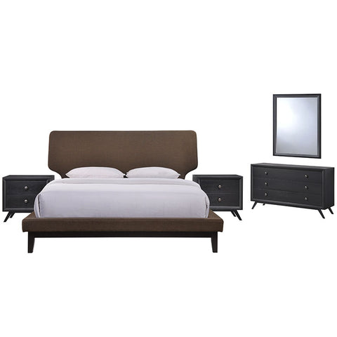 Bethany 5 Piece Queen Bedroom Set - MOD-5337-BLK-BRN-SET