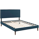 Camille Full Fabric Platform Bed with Squared Tapered Legs