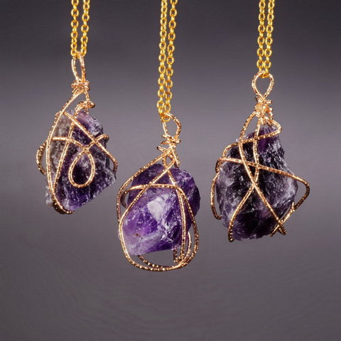 Amethyst Necklace (Raw)