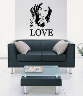 Bob Marley One Love Wall Decal