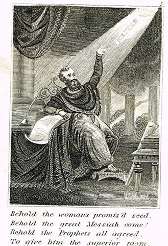 "Miller's Scripture History - ""BEHOLD THE GREAT MESSIAH COME"" - Copper Engraving - 1839"