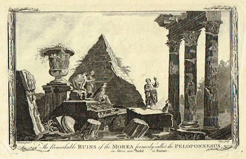 "Miller's ""REMARKABLE RUINS OF THE MOREA"" - Copper Engraving - 1784"