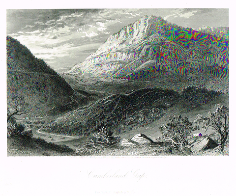 "Picturesque America's ""CUMBERLAND GAP"" - Steel Engraving - 1872"
