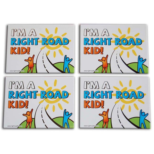 """I'm a Right Road Kid!"" Stickers 4-Pack"