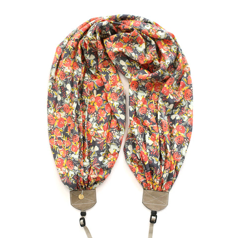 scarf camera strap sprouting splendor - BCSCS137