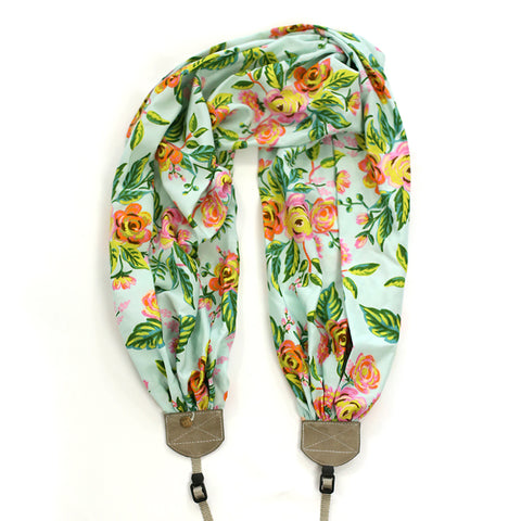 scarf camera strap tropical gardens - BCSCS138