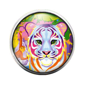 Lisa Frank - 18MM Glass Dome Candy Snap Charm GD0528