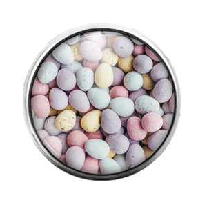 Easter Eggs - 18MM Glass Dome Candy Snap Charm GD0723