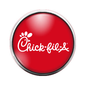 Chick-Fil-a - 18MM Glass Dome Candy Snap Charm GD0489