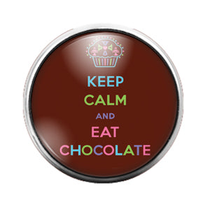 Chocolate - 18MM Glass Dome Candy Snap Charm GD0691