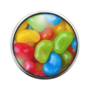 Jelly Beans - 18MM Glass Dome Candy Snap Charm GD0721