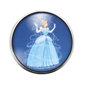 Cinderella Princess- 18MM Glass Dome Candy Snap Charm GD1057