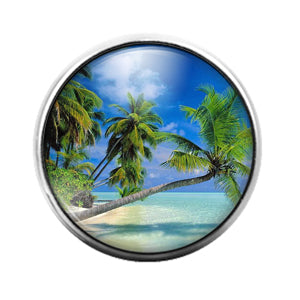 Palm Tree - 18MM Glass Dome Candy Snap Charm GD1392