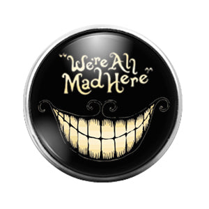 Alice in Wonderland- 18MM Glass Dome Candy Snap Charm GD1004