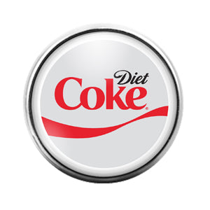 Diet Coca Cola - 18MM Glass Dome Candy Snap Charm GD0646