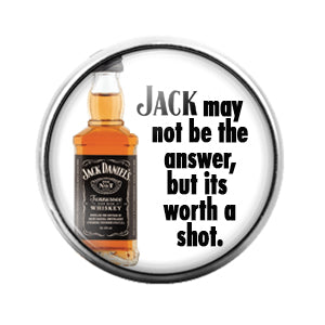 Jack Daniels - 18MM Glass Dome Candy Snap Charm GD0702